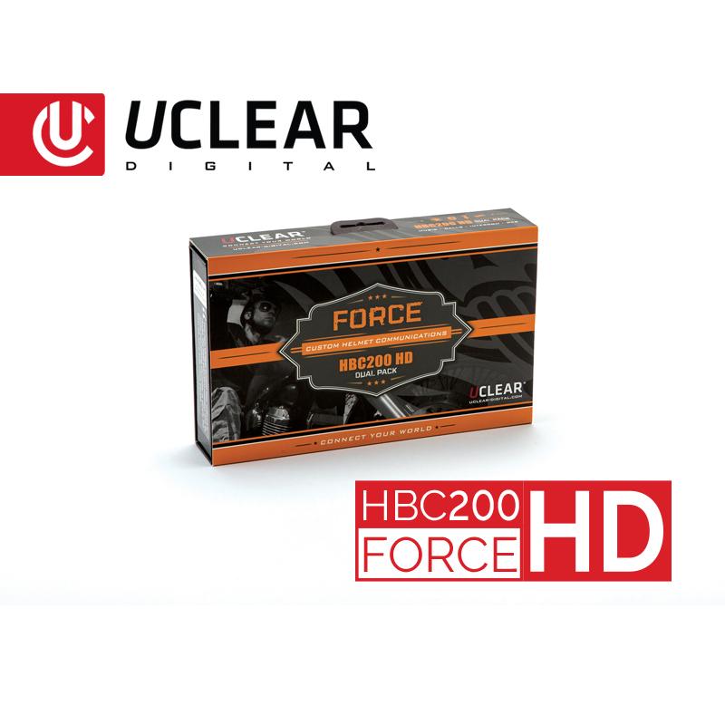 Uclear HBC200 HD Force Bluetooth Helmet Audio System Dual Kit