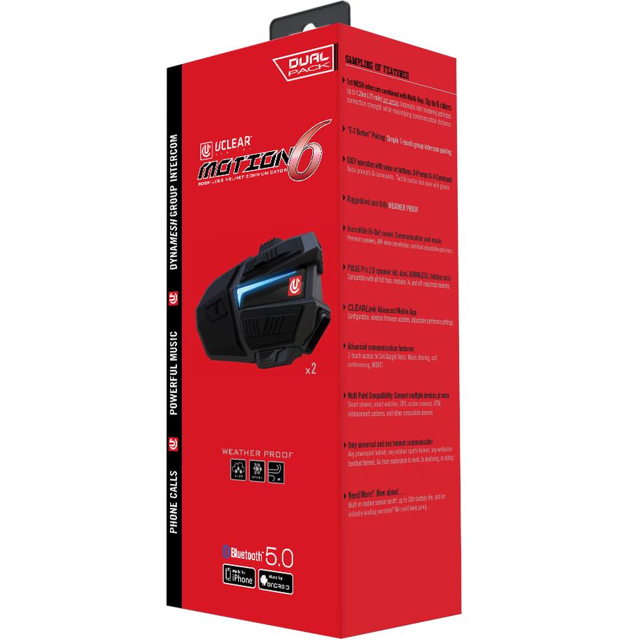 Motion 6 Bluetooth Helmet Audio System - Dual Kit